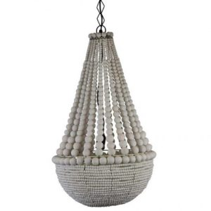 Beaded White Pendant Light
