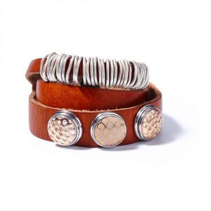 Navkh leather double wrap bracelet