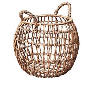 Open weave belly basket, inartisan, water hyacinth