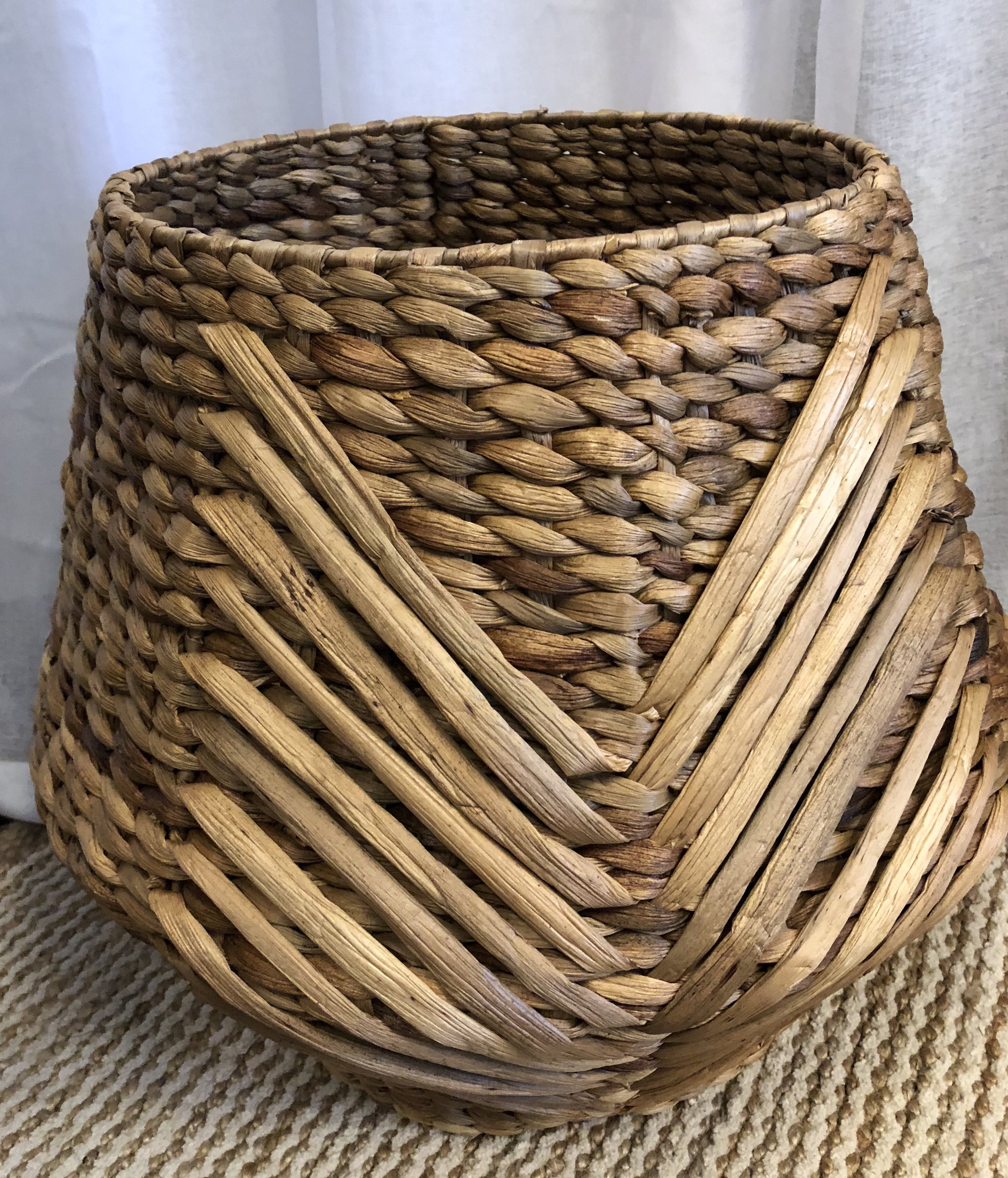 Tribal Weave Basket Natural The Wild Haven Collective