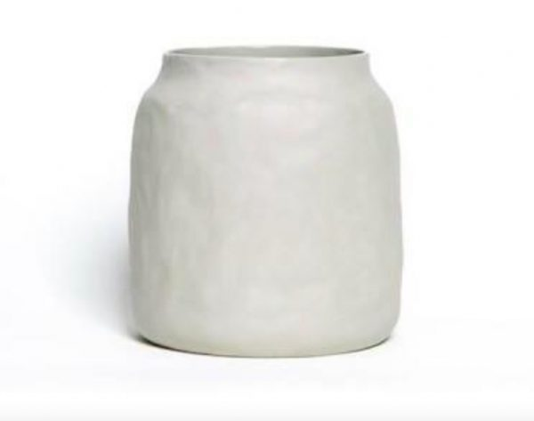 Grey Ceramic Pot Large, Flax