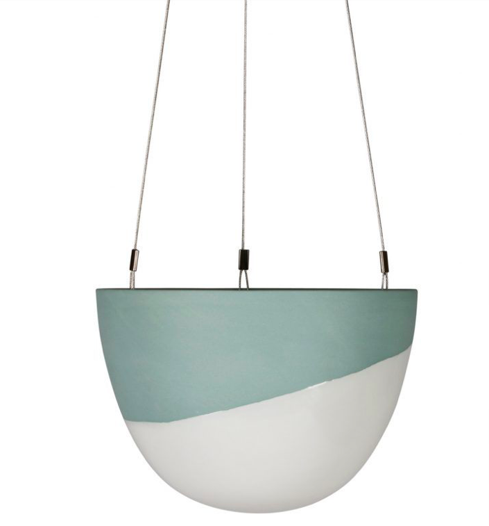 Half Dip Small Hanging Planter Peacock Green 187 Wild Haven
