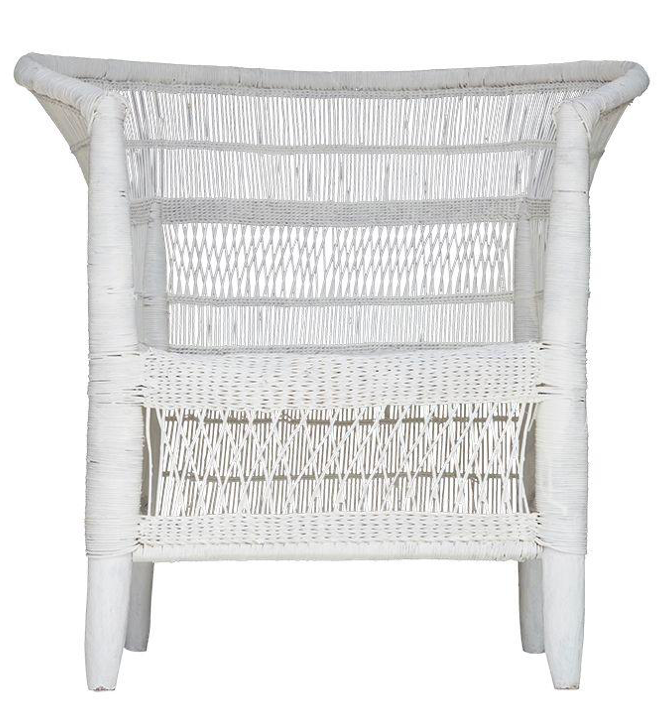 Single Malawi Chair White The Wild Haven Collective
