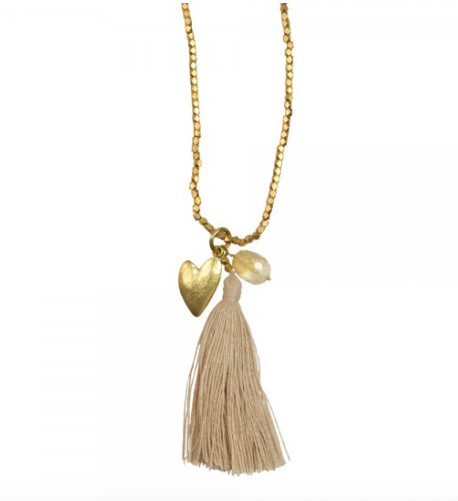 A Beautiful Story - Bloom Citrine Gold Necklace heart necklace