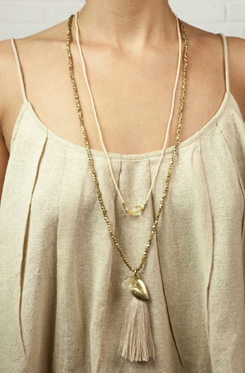 A Beautiful Story - Bloom Citrine Gold Necklace boho