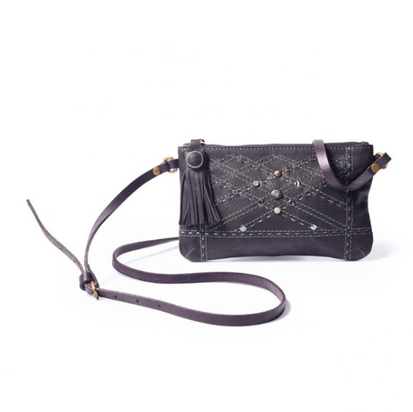 Noosa Amsterdam Small Black Leather Bag