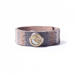 Noosa Amsterdam Love Life Bracelet Grey leather