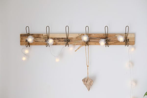 set of wall hooks reclaimed timber