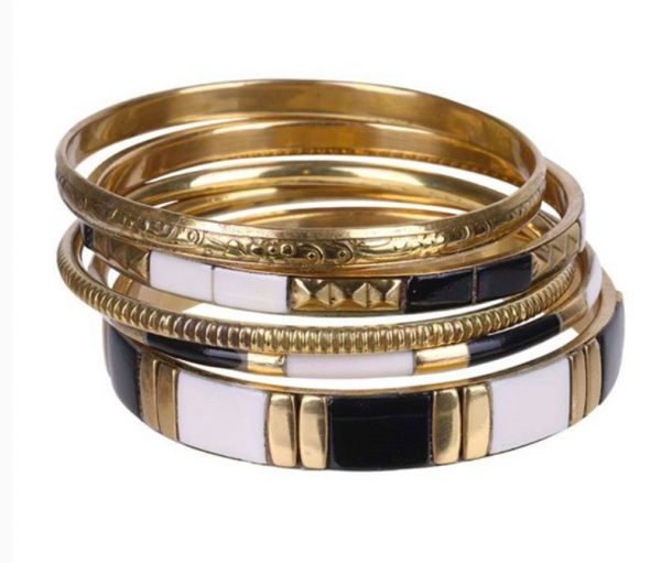 Brass and Black Agra Bangles Eb and Ive